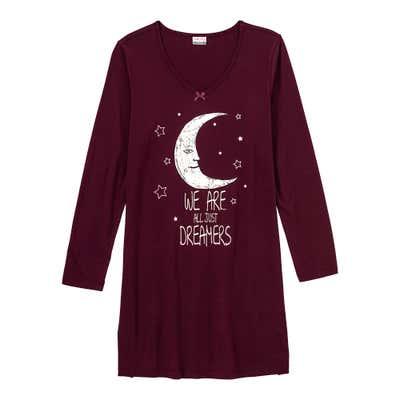 Damen-Nachthemd mit Mond-Aufdruck