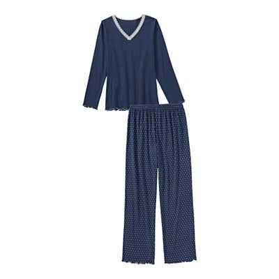 Damen-Schlafanzug mit Rauten, 2-teilig