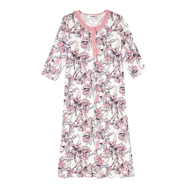 Damen-Nachthemd miz floralem Muster