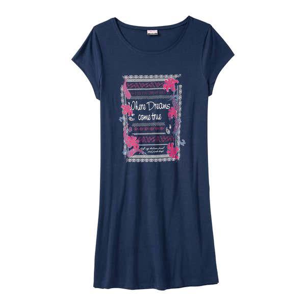 Damen-Nachthemd mit großem Frontaufdruck