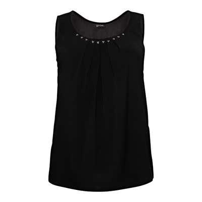 Damen-Bluse mit Strasssteinchen, große Größen