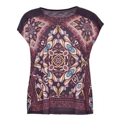 Damen-T-Shirt mit aufwendigem Frontaufdruck, große Größen