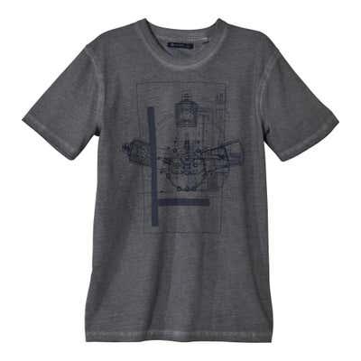Herren-T-Shirt mit authentischem Oilwash