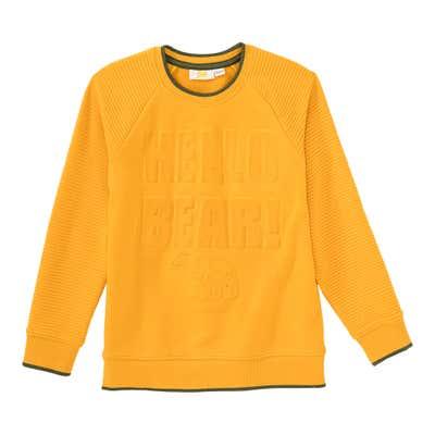 Jungen-Sweatshirt mit Struktur-Muster
