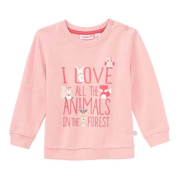 Baby-Mädchen-Sweatshirt mit Frontaufdruck