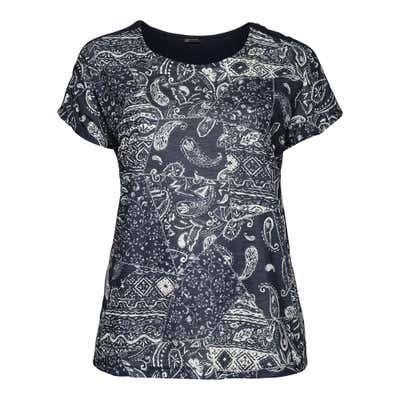 Damen-T-Shirt mit Ornament-Muster, große Größen