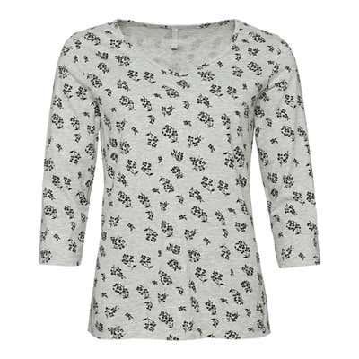 Damen-Shirt mit Raffung am Ausschnitt