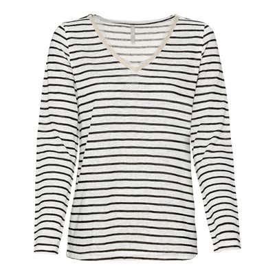 Damen-Shirt mit Spitze am Ausschnitt