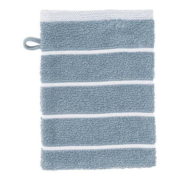 Waschhandschuh mit Streifenmuster, 16x21cm