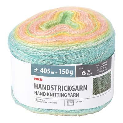 Handstrickgarn mit Baumwolle, 150g
