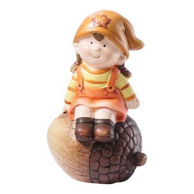 Herbst-Figur aus hochwertiger Keramik