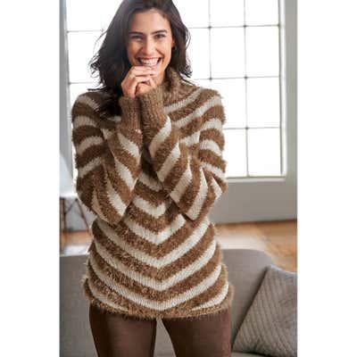 Damen-Pullover mit trendigem Rollkragen