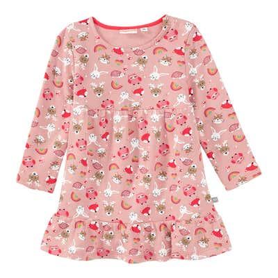 Baby-Mädchen-Kleid mit Waldtieren