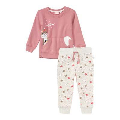 Baby-Mädchen-Set mit Waldtier-Muster, 2-teilig