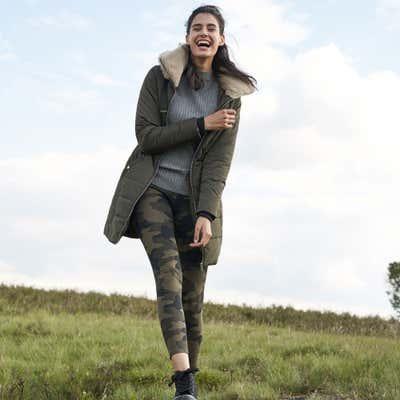 Damen-Leggings mit Camouflage-Muster