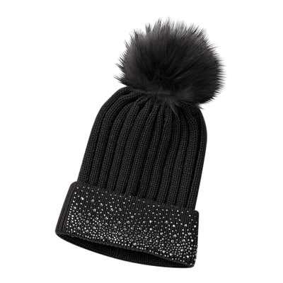 Damen-Mütze mit Strasssteinen