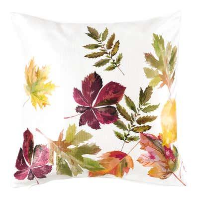 Kissenhülle mit herbstlichen Blättern, ca. 40x40cm