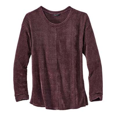 Damen-Chenille-Sweatshirt in toller Optik