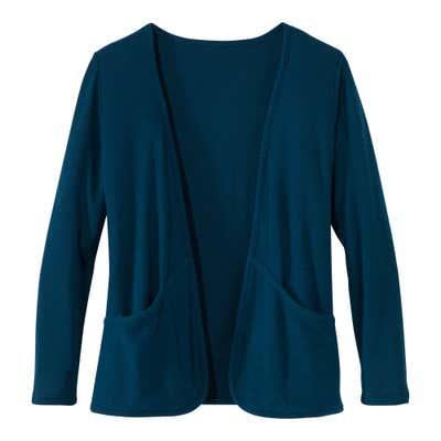 Damen-Jerseyjacke mit fülligen Taschen