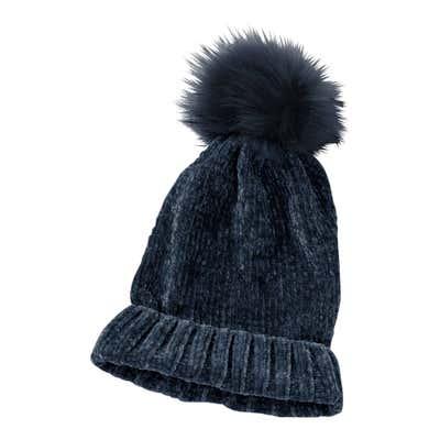 Damen-Mütze aus Chenillegarn