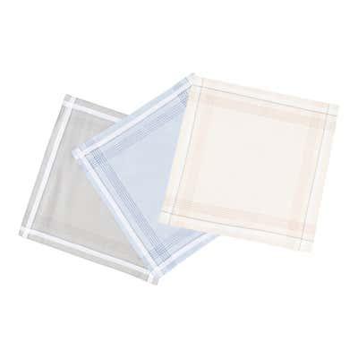 Herren-Taschentuch aus Baumwolle, 3er Pack
