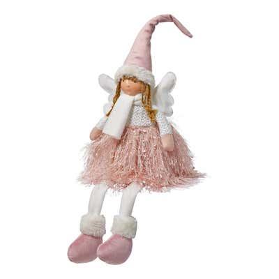 Deko-Figur Engel mit baumelnden Beinen, ca. 14x12x34cm