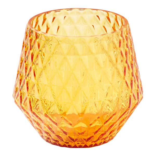 Teelichthalter aus Glas, ca. 12x11cm