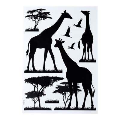 Wandsticker mit tierischem Afrika-Motiv, ca. 35x25cm