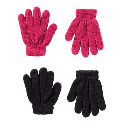 Kinder-Handschuhe aus Plüsch, 2er Pack