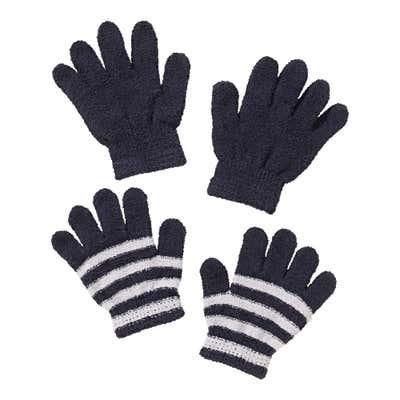 Kinder-Handschuhe mit weichem Plüsch, 2er Pack