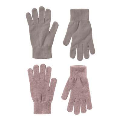 Damen-Strickhandschuhe, 2er Pack