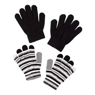 Kinder-Handschuhe mit Ringelmuster, 2er Pack