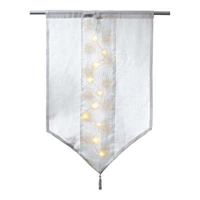 LED-Kurzgardine mit Lichtern, ca. 60x90cm