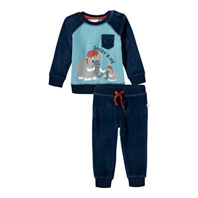 Baby-Jungen-Set mit Mammut-Frontaufdruck, 2-teilig