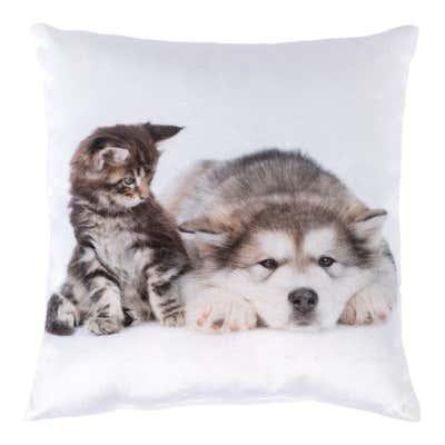 Deko-Kissen mit Tiermotiv, ca. 25x25cm