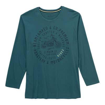 Herren-Shirt mit Frontaufdruck, große Größen