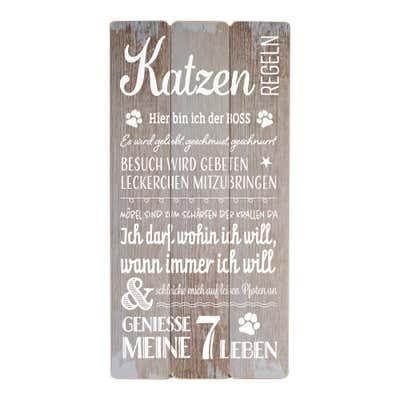 Schild in Planken-Optik, ca. 30x60cm
