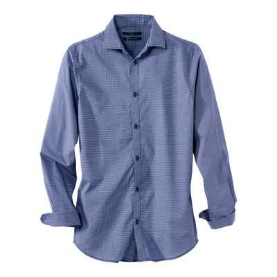 Herren-Hemd in schönem Blau