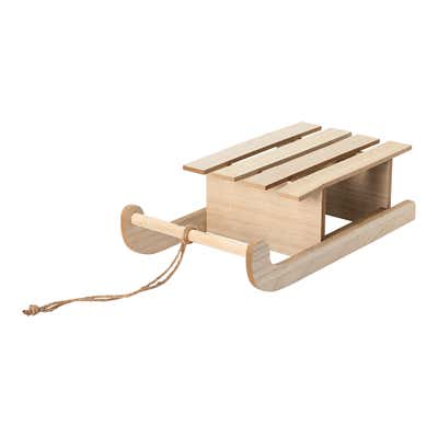 Deko-Schlitten aus Holz, ca. 37x20x11cm