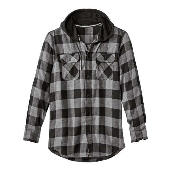 Herren-Flanellhemd mit stylischer Kapuze