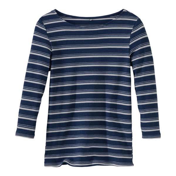 Damen-Shirt mit modischen Streifen
