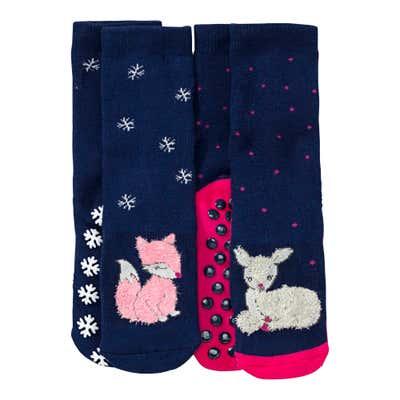 Kinder-Antirutsch-Socken, 2er Pack
