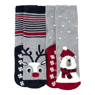 Kinder-Antirutsch-Socken, 2er Pack