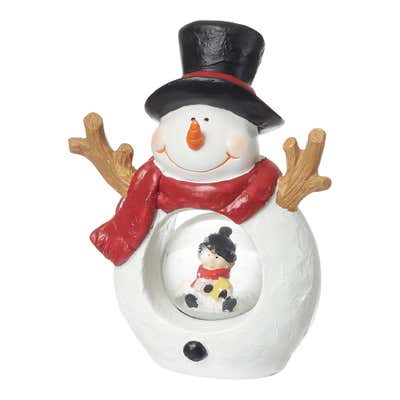 Deko-Figur mit Schneekugel, ca. 11x6x15cm