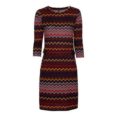 Damen-Kleid mit Zickzack-Muster