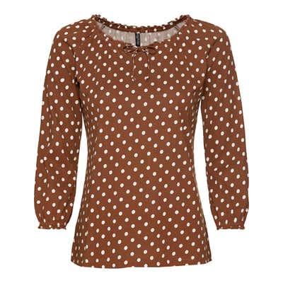 Damen-Shirt mit Carmen-Ausschnitt