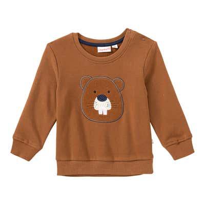 Baby-Jungen-Sweatshirt mit Biber-Applikation