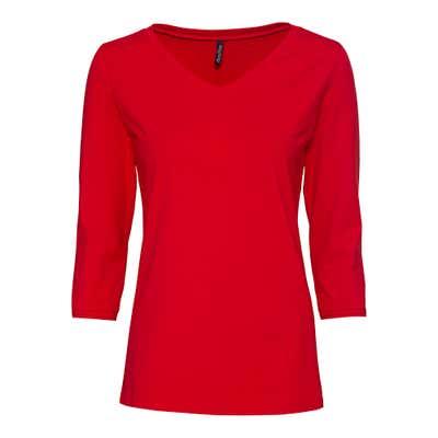 Damen-Shirt mit V-Ausschnitt
