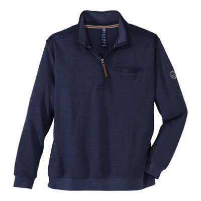 Herren-Sweatshirt mit Brusttasche, große Größen