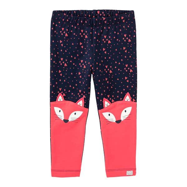 Baby-Mädchen-Leggings mit Fuchs-Motiven